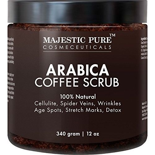 Arabica Coffee Scrub, 12 Oz-Natural Body Scrub-Acne & Anti Cellulite Treatmen &