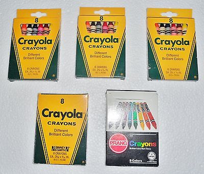 Vintage Crayola Crayons Different Brilliant Colors or 1 Prang Crayons 8 Colors