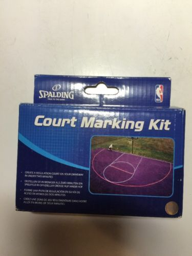 Spalding Basketball Court Marking Kit for Driveway (Easily Removable)