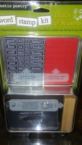 Magnetic Poetry Love & Romance Word Stamp Kit