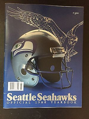 1988 SEATTLE SEAHAWKS YEARBOOK VINTAGE (GREAT SHAPE) STEVE LARGENT