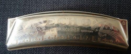 Vintage Hohner Echo harmonica Key of G