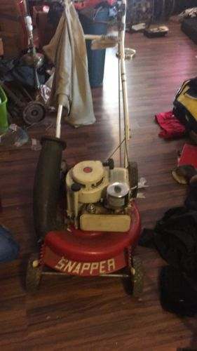Vintage Snapper Lawn Mower With Bag