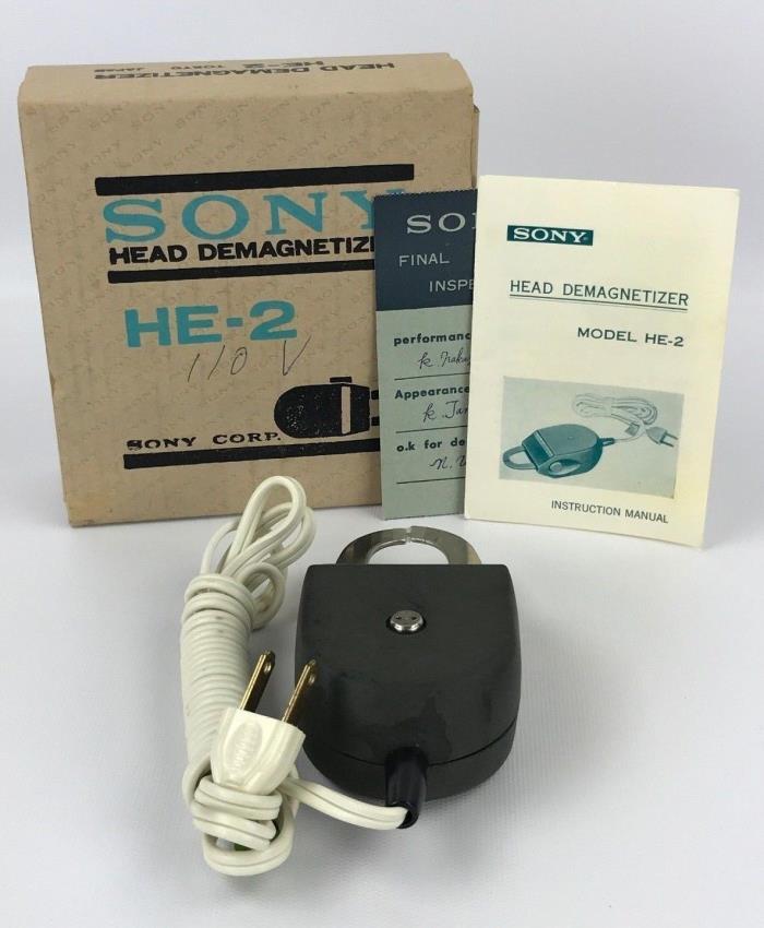 Vintage Sony HE-2 Head Demagnetizer for Reel to Reel Cassette Tape Recorder