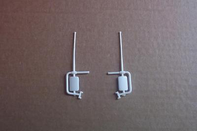 2 Door Mirrors ONLY Chevy 4x4 Truck Revell 1:16 Pickup Parts Vtg 70's Baja Fever
