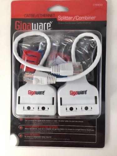Gigaware CAT5E Ethernet Splitter Combiner 2790033