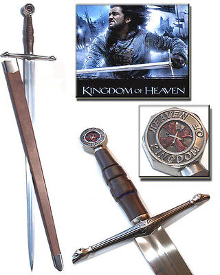 S0108 KINGDOM OF HEAVEN CRUSADER BALIAN OF IBELIN SWORD CROSS SNAKE HEADS 45.5