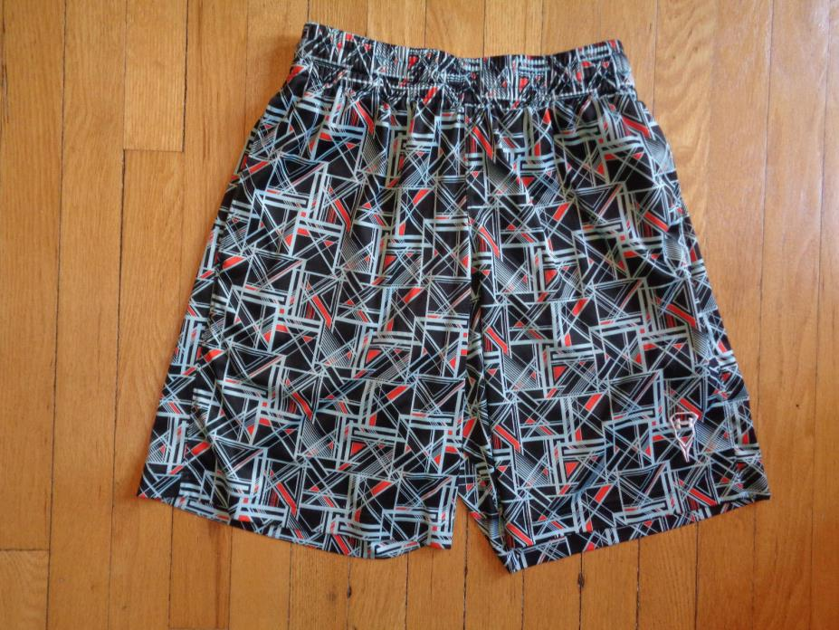 Under Armour Lacrosse Shorts, Black Gray and Red, Small