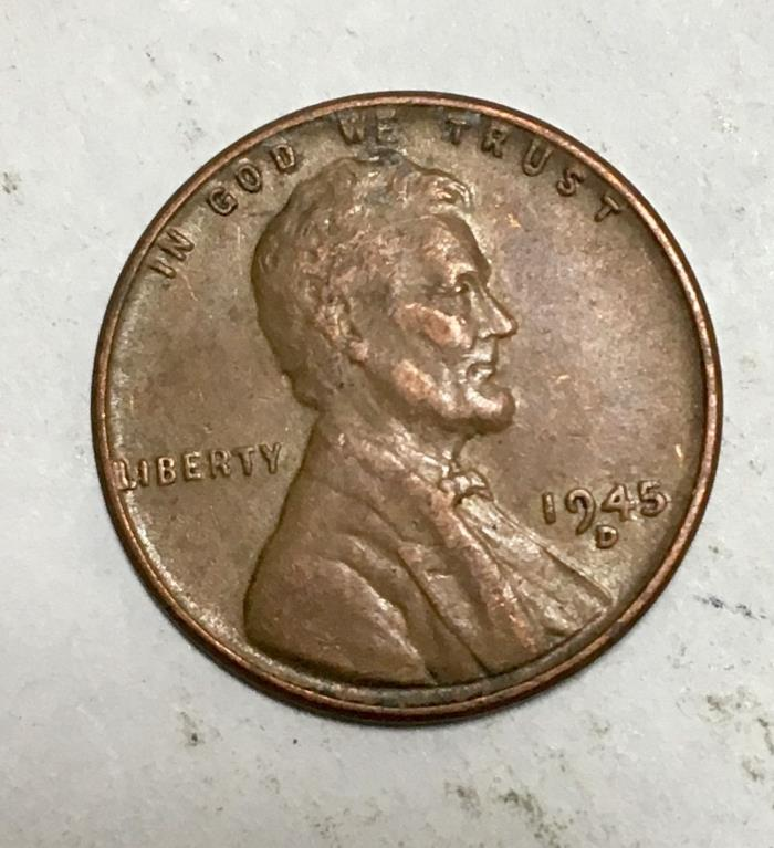 1945-D Lincoln Wheat Cent