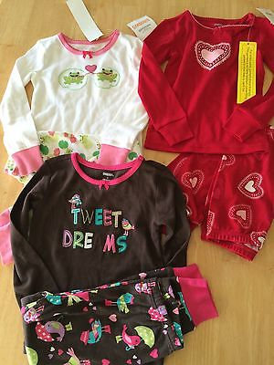 NWT Gymboree Gymmies Girls Cotton Pajamas Set Pj SZ 4  Birds Heart valentine