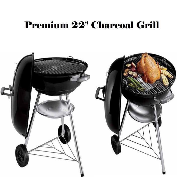 Charcoal Grill Weber Jumbo Joe 22-Inch Kettle Premium Outdoor BBQ Camping Smoker