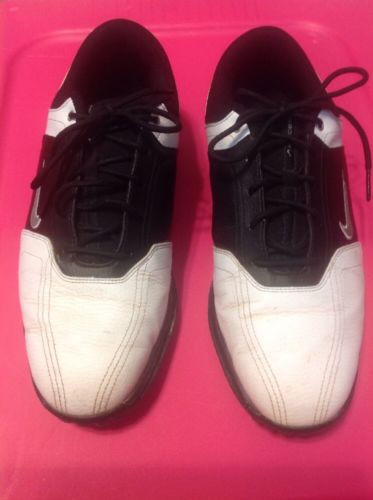 NIKE LIGHTWEIGHT HERITAGE GOLF SHOES Mens Size 8 BLACK & WHITE  336040
