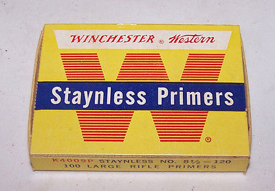 Vintage Winchester Primers EMPTY BOX ONLY No. 8 1/2