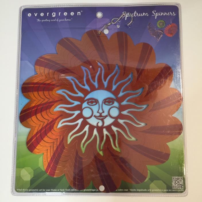 NEW Evergreen Enterprises Sunshine Wind Driven Spectrum Spinner
