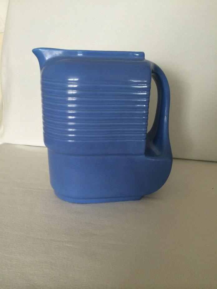 VINTAGE BLUE WATER PITCHER Made for Westinghouse by Hall China Co Mint Condition