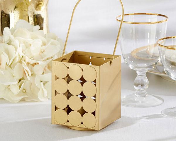 12 Classic Gold Lanterns Wedding Centerpiece Decorations Lot Q35432