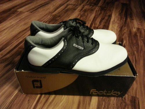 FootJoy GreenJoy Golf Shoes Women's 11M White & Black FJ# 98308 Soft Spikes