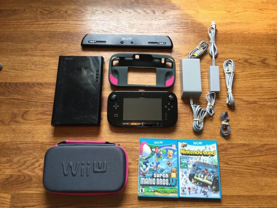 Nintendo Wii U 32gb Console+3 Games bundle lot system new super mario bros.+more