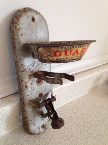RARE Antique Guard-X Hand Grenade Style Wall Mounted Automatic Fire Extinguisher