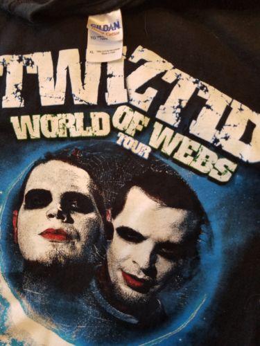 Twiztid World of Webs Tour XL T-Shirt insane clown posse three six mafia 36 mne