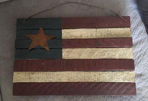 Primitive Home Made American Flag Decor