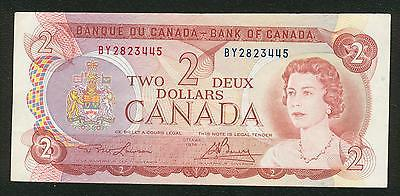1974 Bank of Canada $2 two dollars Lawson Bouey prefix BY