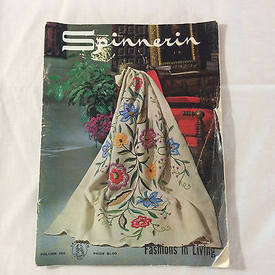 Vintage Spinnerin Magazine #168 Fashions In Living Crochet Knit Afghans 1963