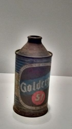 1930's Cone Top Beer Can Goldcrest 51 Vintage