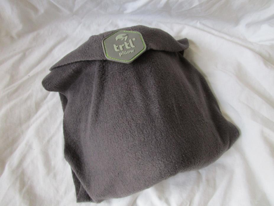 Trtl Pillow Napscarf Unisex Super Soft Neck Support Travel Pillow GRAY NIB