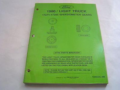 SPEEDOMETER GEARS 1980 FORD / LIGHT TRUCK 17271-17285