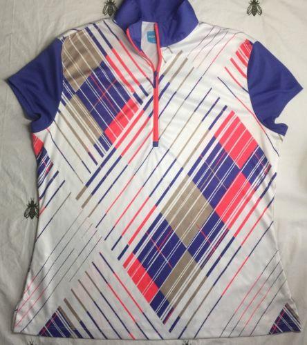 PGA Women's Golf Polo Shirt Size Large