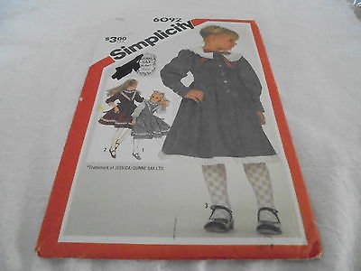Simplicity Gunne Sax Child's Dress Pattern 6092 Size Girl's 6 Unused in Package