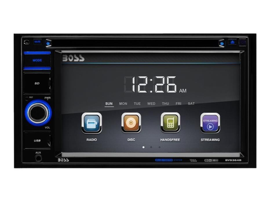 BOSS Audio BV9364B Double Din, Touchscreen, Bluetooth, DVD/CD/MP3/USB/SD AM/FM