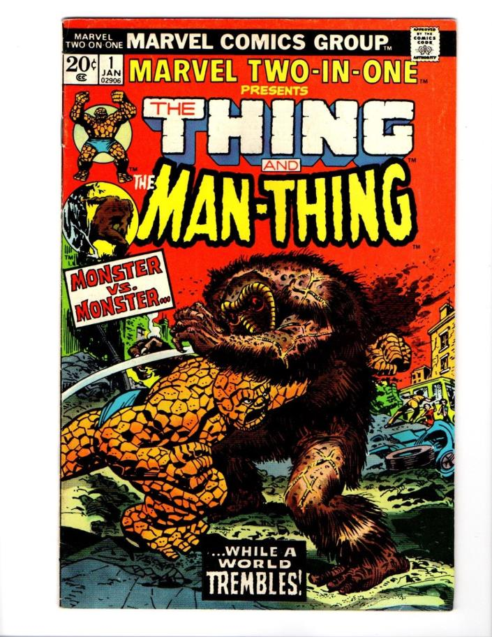 MARVEL TWO IN ONE #1 THE THING MAN-THING VG SEE MY STORE EASY COMBINED SHIP!