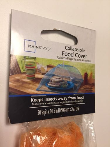 Collapsible Food Cover Color Orange New