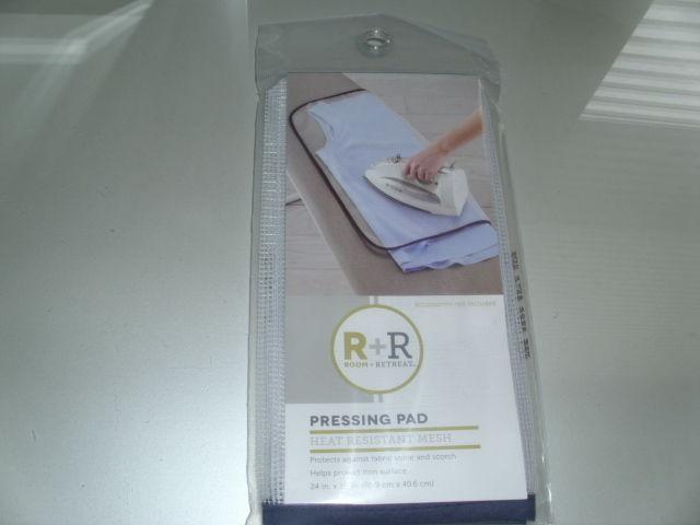 Room + Retreat Pressing Pad Heat Resistant Mesh Ironing Cloth Protective 24 x 16