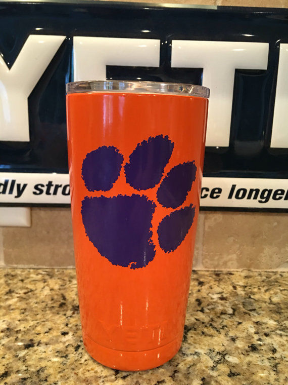 Clemson YETI Rambler Tumbler 20oz--Powder Coated-Clemson University Tigers!
