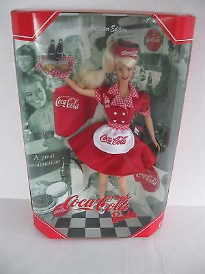 COCA COLA BARBIE DOLL-Collector Edition-Coca Cola Barbie Series-1998-NRFB