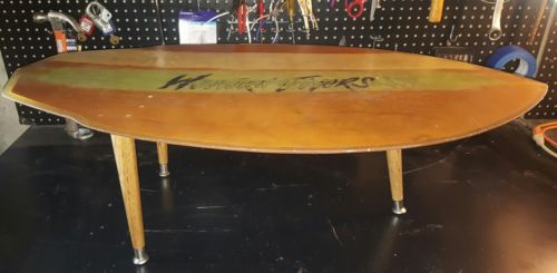 VINTAGE WESTERN FLYERS KNEEBOARD TABLE COFFETABLE ONE OF A KIND FIND!!!