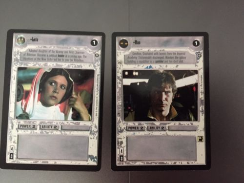 Star Wars ccg SWCCG Han And Leia Card lot of rebel light side cards