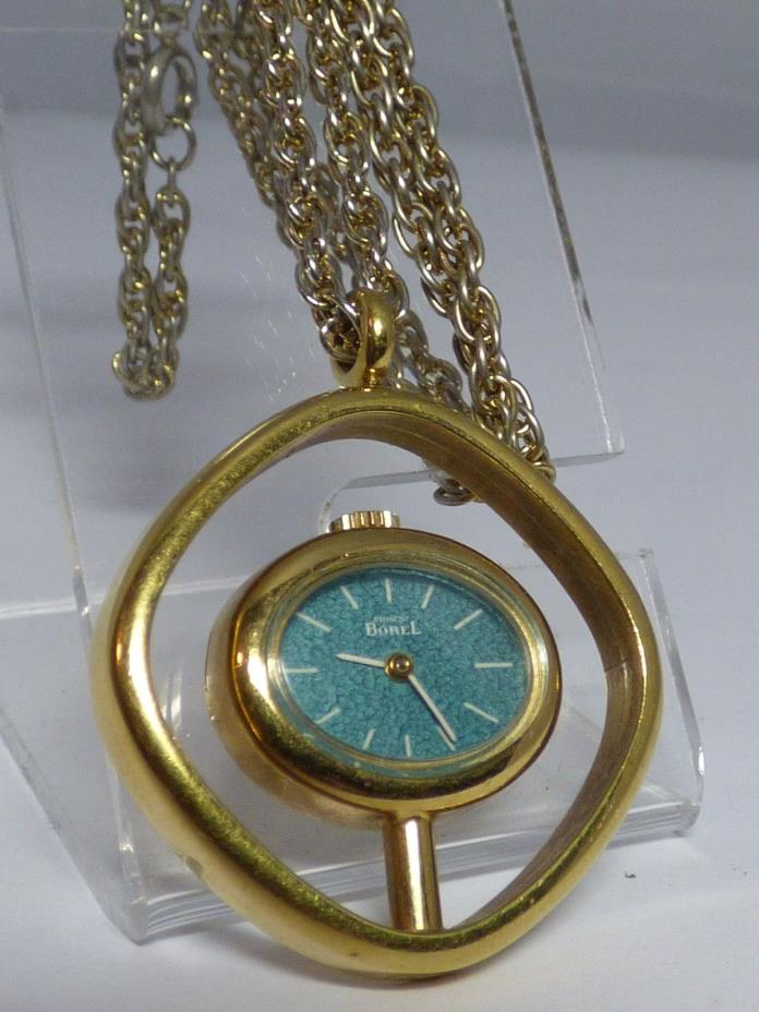 Vintage Waltham 17 jewels gold pendant watch wind up NR