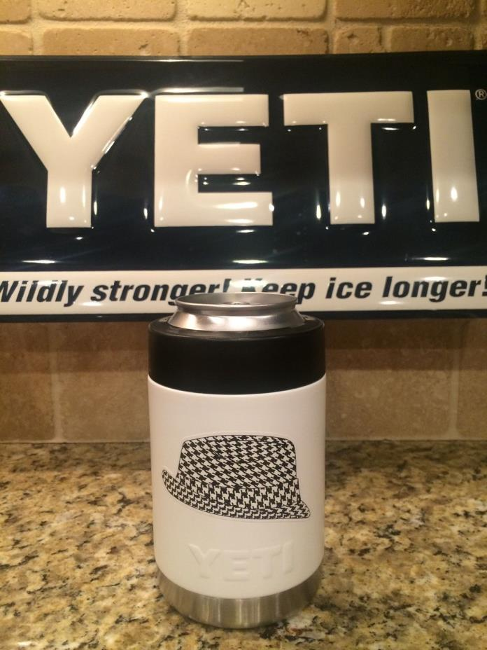 Alabama Yeti Colster--White Hounds tooth/Polka dot or solid A-Crimson Tide