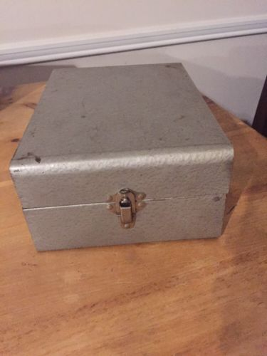 Vintage Hammer Metal Document Storage Box Excelsior USA Portable File Organizer