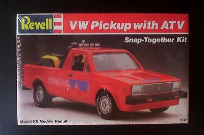 VW Volkswagen PICKUP Truck w 3 Wheeler ATC ATV Revell 1:32 Kit SEALED vtg 80s