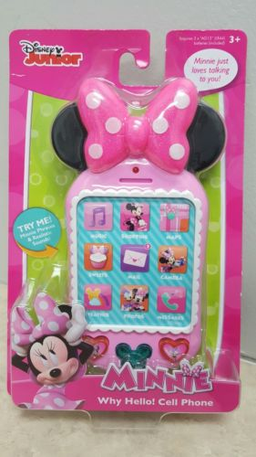 Disney Minnie Mouse Pretend Cell Phone Phrases Sounds New