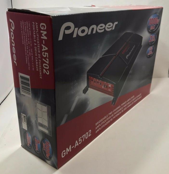 Pioneer - GM-A5702 - Bridgeable 1000 Watts 2-Channel Power Car Amplifier