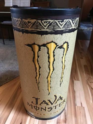 NEW Monster Energy Java Coffee Crystal Cooler on Wheels
