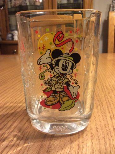 Walt Disney World Mickey Mouse 2000 Animal Kingdom McDonald's Glass Cup