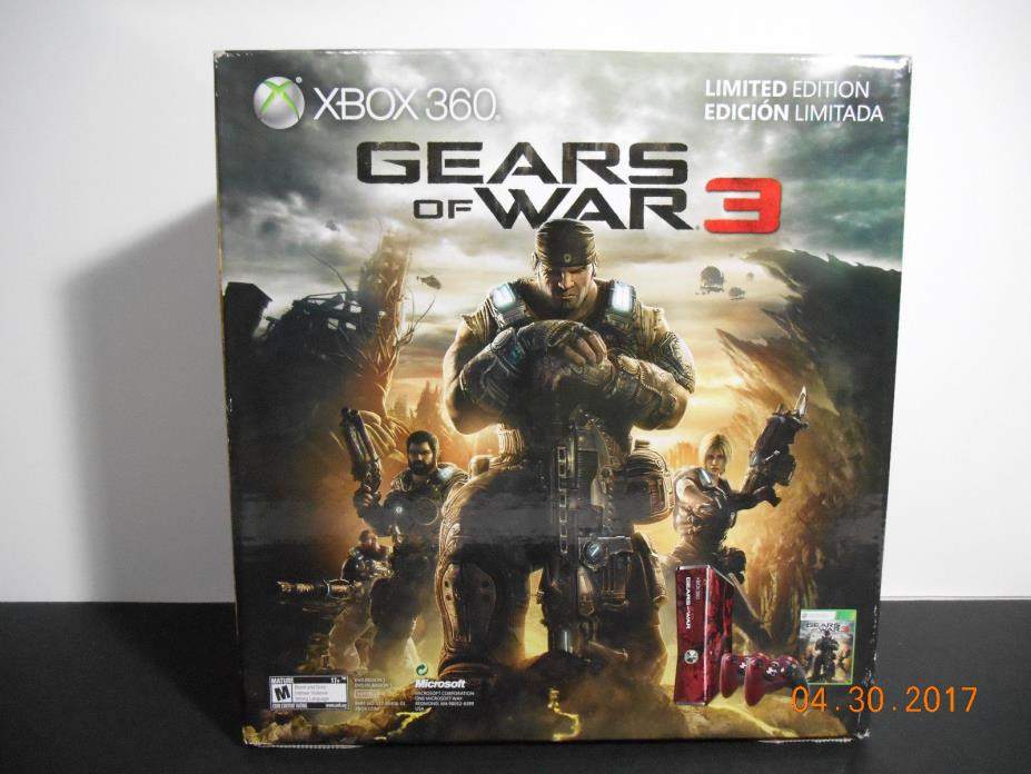 XBOX 360 Gears of War 3 Limited Edition Console Box -BOX ONLY- NO CONSOLE -READ-