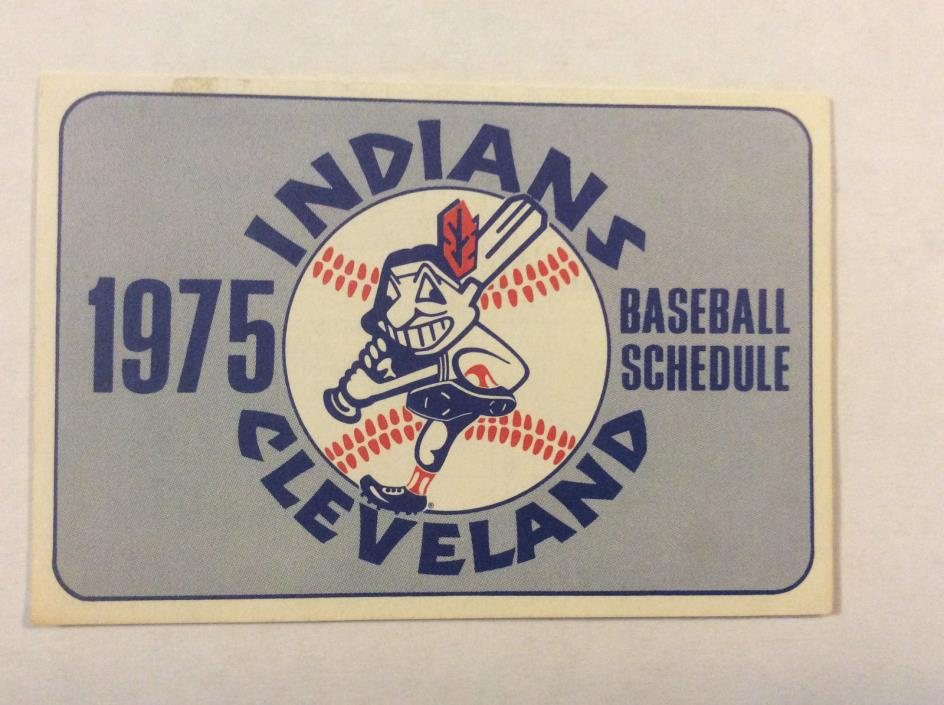 1975 Cleveland Indians Baseball Pocket Schedule Vintage Original